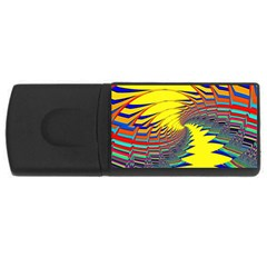 Hot Hot Summer C Usb Flash Drive Rectangular (4 Gb) by MoreColorsinLife