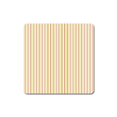 Stripes Pink And Green  Line Pattern Square Magnet by paulaoliveiradesign