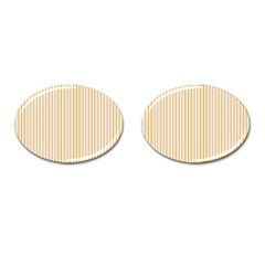 Stripes Pink And Green  Line Pattern Cufflinks (oval) by paulaoliveiradesign