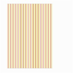 Stripes Pink And Green  Line Pattern Large Garden Flag (two Sides) by paulaoliveiradesign