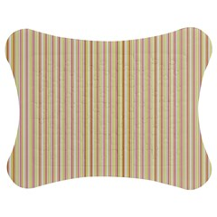 Stripes Pink And Green  Line Pattern Jigsaw Puzzle Photo Stand (bow)
