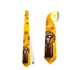 astrid s Split Personality    Necktie (two Sided) by livingbrushlifestyle