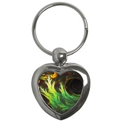 A Seaweed s Deepdream Of Faded Fractal Fall Colors Key Chains (heart)  by jayaprime