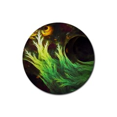 A Seaweed s Deepdream Of Faded Fractal Fall Colors Rubber Coaster (round)  by jayaprime