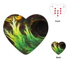 A Seaweed s Deepdream Of Faded Fractal Fall Colors Playing Cards (heart)  by jayaprime