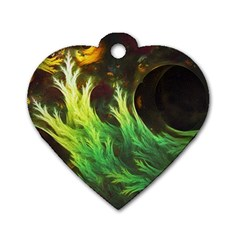 A Seaweed s Deepdream Of Faded Fractal Fall Colors Dog Tag Heart (one Side) by jayaprime
