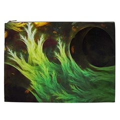 A Seaweed s Deepdream Of Faded Fractal Fall Colors Cosmetic Bag (xxl)  by beautifulfractals
