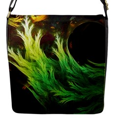 A Seaweed s Deepdream Of Faded Fractal Fall Colors Flap Messenger Bag (s) by jayaprime