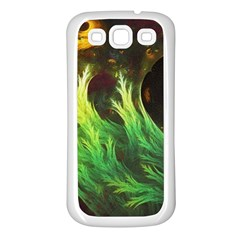 A Seaweed s Deepdream Of Faded Fractal Fall Colors Samsung Galaxy S3 Back Case (white) by jayaprime