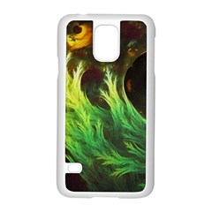 A Seaweed s Deepdream Of Faded Fractal Fall Colors Samsung Galaxy S5 Case (white) by jayaprime