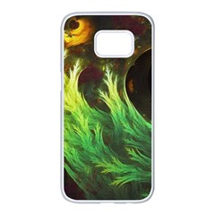 A Seaweed s Deepdream Of Faded Fractal Fall Colors Samsung Galaxy S7 Edge White Seamless Case by jayaprime