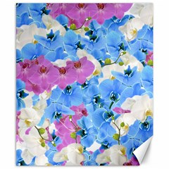 Tulips Flower Pattern Canvas 8  X 10  by paulaoliveiradesign