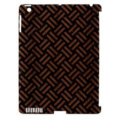 Woven2 Black Marble & Brown Wood Apple Ipad 3/4 Hardshell Case (compatible With Smart Cover) by trendistuff
