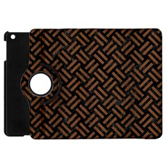 Woven2 Black Marble & Brown Wood Apple Ipad Mini Flip 360 Case by trendistuff