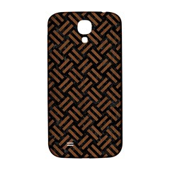 Woven2 Black Marble & Brown Wood Samsung Galaxy S4 I9500/i9505  Hardshell Back Case by trendistuff