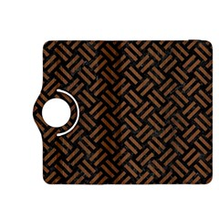 Woven2 Black Marble & Brown Wood Kindle Fire Hdx 8 9  Flip 360 Case by trendistuff