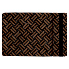 Woven2 Black Marble & Brown Wood Apple Ipad Air Flip Case by trendistuff