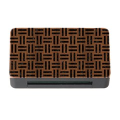Woven1 Black Marble & Brown Wood (r) Memory Card Reader With Cf by trendistuff