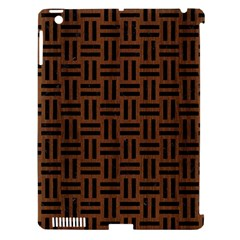 Woven1 Black Marble & Brown Wood (r) Apple Ipad 3/4 Hardshell Case (compatible With Smart Cover) by trendistuff