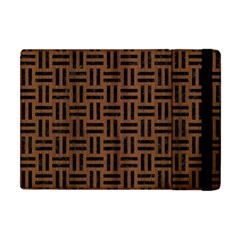 Woven1 Black Marble & Brown Wood (r) Apple Ipad Mini Flip Case by trendistuff