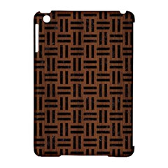 Woven1 Black Marble & Brown Wood (r) Apple Ipad Mini Hardshell Case (compatible With Smart Cover) by trendistuff