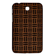 Woven1 Black Marble & Brown Wood (r) Samsung Galaxy Tab 3 (7 ) P3200 Hardshell Case  by trendistuff