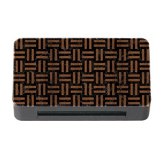 Woven1 Black Marble & Brown Wood Memory Card Reader With Cf by trendistuff