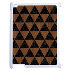 Triangle3 Black Marble & Brown Wood Apple Ipad 2 Case (white) by trendistuff
