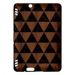 Triangle3 Black Marble & Brown Wood Kindle Fire Hdx Hardshell Case by trendistuff