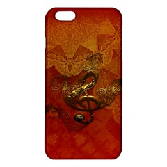 Golden Clef On Vintage Background Iphone 6 Plus/6s Plus Tpu Case