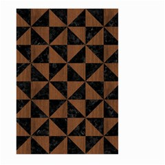 Triangle1 Black Marble & Brown Wood Large Garden Flag (two Sides) by trendistuff