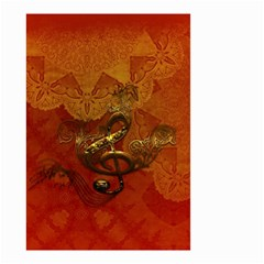 Golden Clef On Vintage Background Small Garden Flag (two Sides)