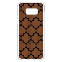 Tile1 Black Marble & Brown Wood (r) Samsung Galaxy S8 Plus White Seamless Case by trendistuff