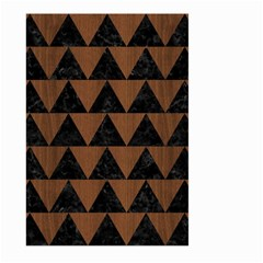 Triangle2 Black Marble & Brown Wood Large Garden Flag (two Sides) by trendistuff