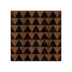 Triangle2 Black Marble & Brown Wood Acrylic Tangram Puzzle (4  X 4 )