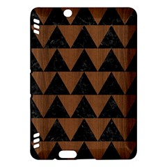 Triangle2 Black Marble & Brown Wood Kindle Fire Hdx Hardshell Case by trendistuff