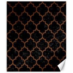 Tile1 Black Marble & Brown Wood Canvas 20  X 24  by trendistuff
