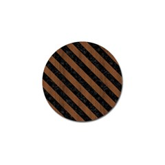 Str3 Bk Mrbl Br Wood (r) Golf Ball Marker by trendistuff