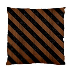Str3 Bk Mrbl Br Wood (r) Standard Cushion Case (one Side) by trendistuff