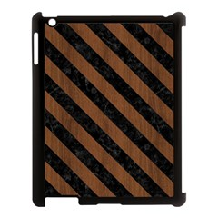Str3 Bk Mrbl Br Wood (r) Apple Ipad 3/4 Case (black) by trendistuff
