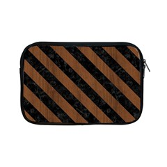 Str3 Bk Mrbl Br Wood (r) Apple Ipad Mini Zipper Cases by trendistuff