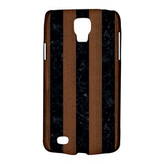 Stripes1 Black Marble & Brown Wood Samsung Galaxy S4 Active (i9295) Hardshell Case by trendistuff