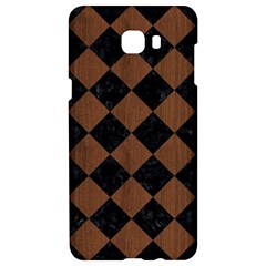 Square2 Black Marble & Brown Wood Samsung C9 Pro Hardshell Case  by trendistuff