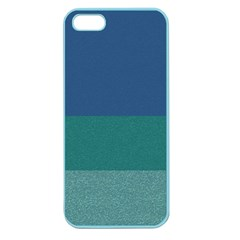 Blue Gradient Glitter Texture Pattern  Apple Seamless Iphone 5 Case (color) by paulaoliveiradesign