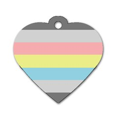 Demiflux Dog Tag Heart (one Side) by TailWags