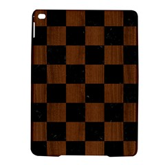 Square1 Black Marble & Brown Wood Apple Ipad Air 2 Hardshell Case by trendistuff