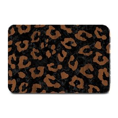 Skin5 Black Marble & Brown Wood (r) Plate Mat by trendistuff