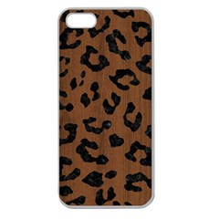 Skin5 Black Marble & Brown Wood Apple Seamless Iphone 5 Case (clear) by trendistuff