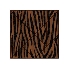Skin4 Black Marble & Brown Wood Acrylic Tangram Puzzle (4  X 4 )