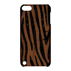 Skin4 Black Marble & Brown Wood Apple Ipod Touch 5 Hardshell Case With Stand by trendistuff